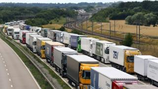 Operation Stack in July on the M20 in Kent