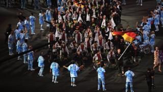 Ценемония открытия Паралимпиады