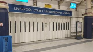 Liverpool Street Underground station closes its shutters