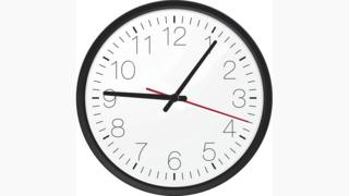 Clock showing 9.06