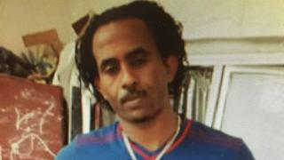 """Undated handout photo, issued by the Kk'S National Crime Agency, of Mered Medhanie, dubbed """"The General"""", one of the world's most wanted people smugglers, who has been arrested"""