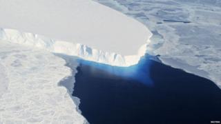 The Thwaites Glacier in Antarctica