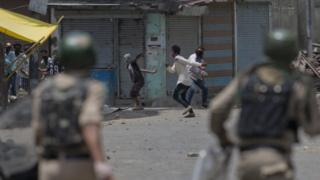 Clashes in Srinagar, 10 July