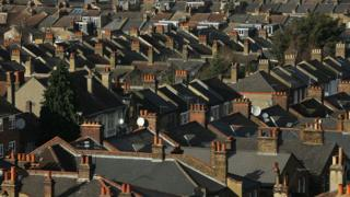 Houses in a suburb of London