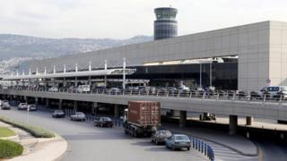 A general view shows Beirut's international airport, Lebanon November 21