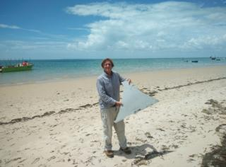 Picture of debris which Blaine Alan Gibson said he found on a beach in Mozambique