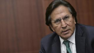 Picture from 17 June, 2016 shows former Peruvian President Alejandro Toledo speaking during a discussion on in Washington