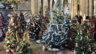 Christmas trees in St Mary