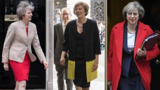 Theresa May, copyright left to right, Reuters, Pa and REuters