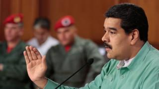 A handout picture provided by Miraflores Press shows Venezuelan President Nicolas Maduro during a meeting at Miraflores Palace on 4 January 2016