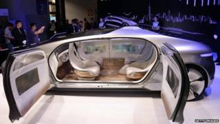 A driverless car from Mercedes-Benz at the first Consumer Electronics Show (CES) in Asia in Shanghai on 26 May, 2015.