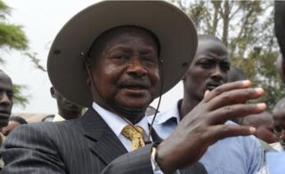 Uganda's President Yoweri Museveni