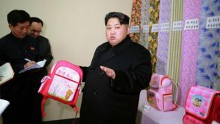 Kim Jong-un inspects a textiles factory