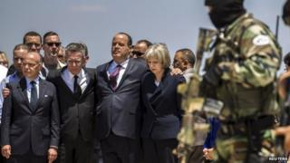Theresa May and other ministers at scene of Tunisia attack