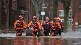 Rescuers in Cumbria