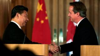 Xi Jinping and David Cameron