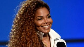 Janet Jackson accepts the music dance visual award at the BET Awards in Los Angeles on 28 June 2015