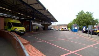 Ambulance bay at Leicester Royal Infirmary