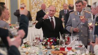 President Putin at Russian military dinner