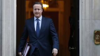 Prime Minister David Cameron in 10 Downing Street