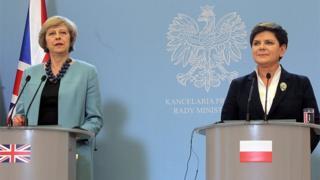 Theresa May and Beata Szydlo