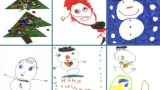 Children's Christmas card designs