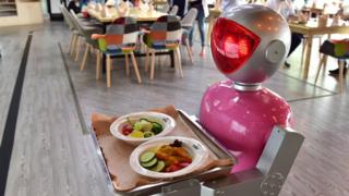 File image of a robot waiter