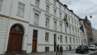 The event was to take place at the Swedish embassy in Copenhagen