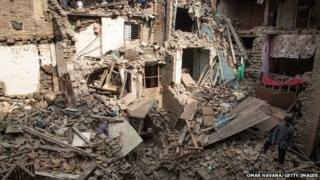 Aftermath of Nepal earthquake