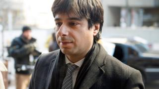 Jian Ghomeshi arrives at a Toronto courthouse on 11 February 2016 for closing arguments in his sexual assault trial