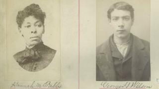 Hannah Mary Tabbs and her accomplice's mugshots from 1887
