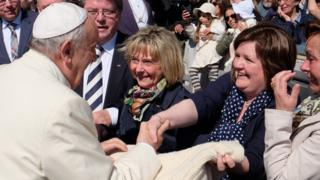 Marybell MacIntyre and Pope Francis