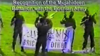 Members of the so-called Mujahideen Battalion in Bosnia in 1992