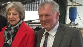 Theresa May and Glyn Davies