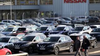 Nissan automobile plant in Sunderland