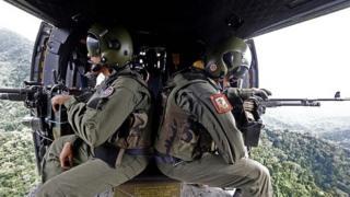 Helicopter crew in Venezuela ()6 December 2014)