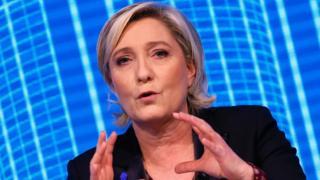 Marine Le Pen speaks