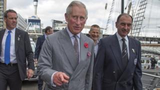 Prince Charles and staff
