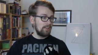 Arnor Bjarki Svarfdal Arnarson speaking to Visir TV