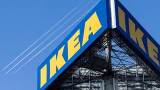 The Ikea sign