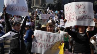 Марш протеста в Мехико
