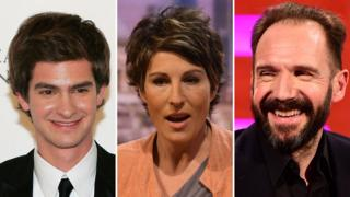 Andrew Garfield, Tamsin Greig and Ralph Fiennes