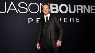 Matt Damon at Jason Bourne premier