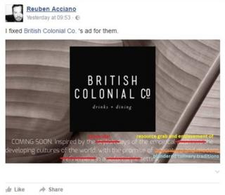 British Colonial Co: Outrage in Australia over theme restaurant