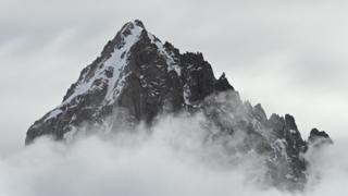 Mountain peak in Chamonix
