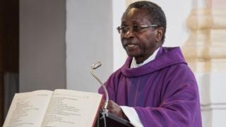 Olivier Ndjimbi-Tshiende, giving a sermon 6 Mar 16