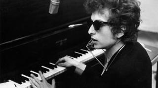 Bob Dylan at the piano