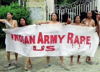 The iconic image of mothers protesting in Manipur