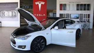 A Tesla electric car