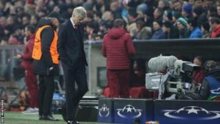 Meneja wa Arsenal Arsene Wenger baada ya timu yake kula kichapo cha bao 5-1 na Bayern Munich